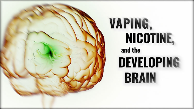 Still image from: Vaping, Nicotine, and the Developing Brain