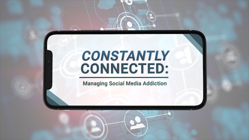 Still image from Constantly Connected: Managing Social Media Addiction