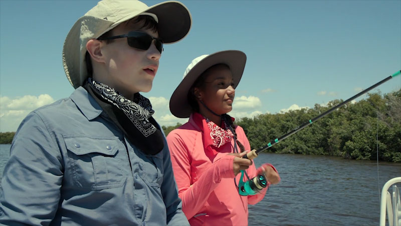 Still image from: Into the Outdoors: Mangrove Ecosystems and Angling Ethics
