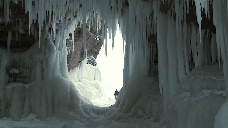 Still image from: Into the Outdoors: The Science of Ice Caves