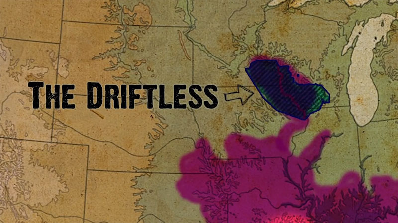 Still image from: Into the Outdoors: Mysteries of the Driftless