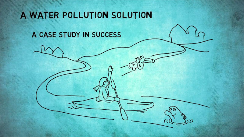 Still image from: Into the Outdoors: A Water Pollution Solution--A Case Study in Success