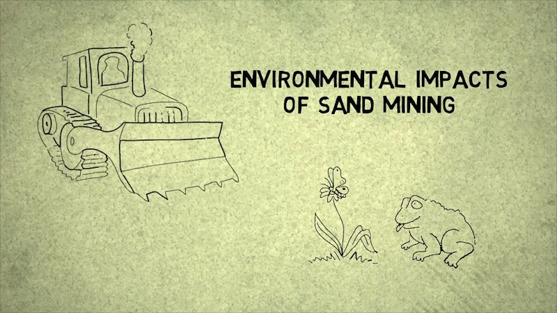Still image from: Into the Outdoors: Environmental Impacts of Sand Mining