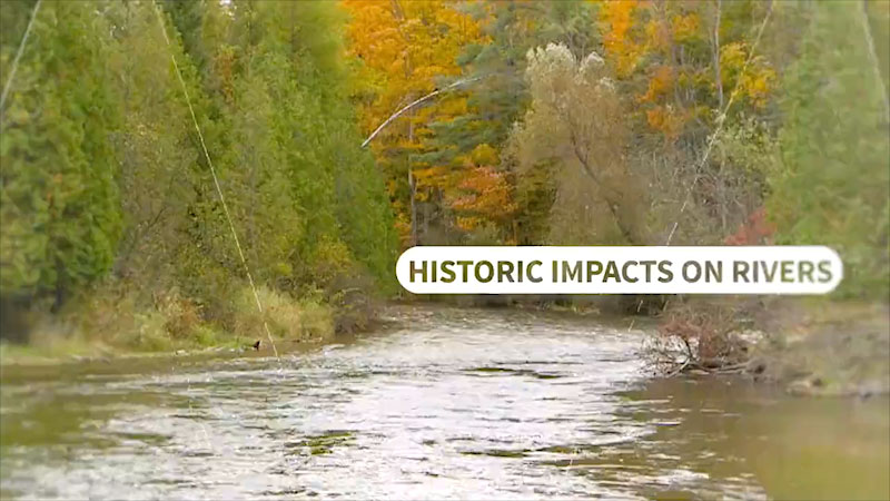 Still image from: Into the Outdoors: Historic Impacts on Rivers