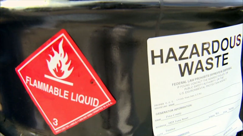 Still image from: Into the Outdoors: Household Hazardous Waste & E-Waste in the Environment