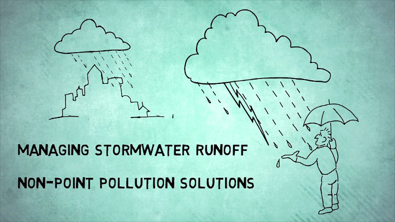 Still image from: Into the Outdoors: Managing Stormwater Runoff--Non-Point Pollution Solutions