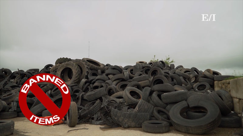 Still image from: Into the Outdoors: Diverting Banned Waste