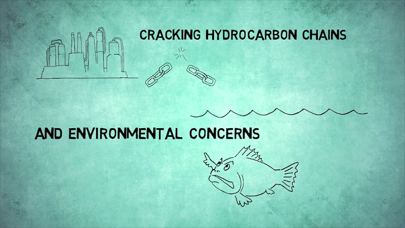 Still image from: Into the Outdoors: Cracking Hydrocarbon Chains and Environmental Concerns