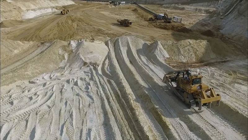 Still image from Into the Outdoors: Decoding Industrial Sand Mining