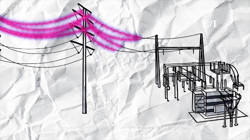 Still image from Into the Outdoors: Decoding the Electrical Transmission System