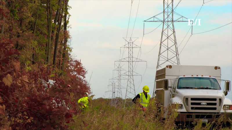 Still image from Into the Outdoors: Electricity and the World