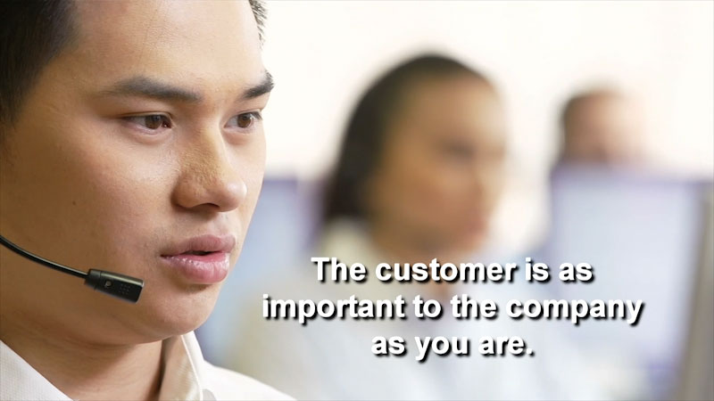 Still image from: Business Essentials: Customer Service--Difficult Customers