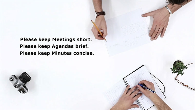 Still image from: Business Essentials: Meetings--The Agenda and Minutes