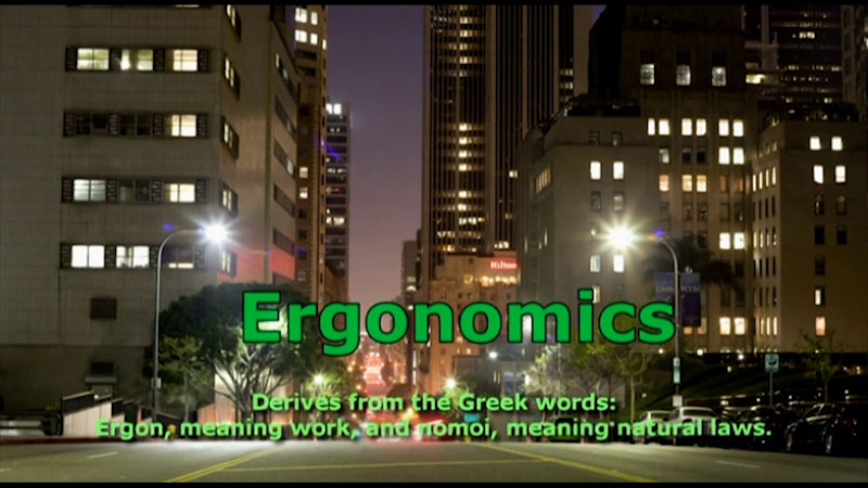 Still image from: Employee Excellence: Ergonomics and Your Office
