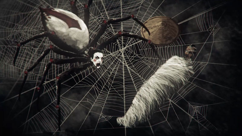 Still image from: Monstrum: Jorogumo--The Deadly Spider Woman From Yokai Lore