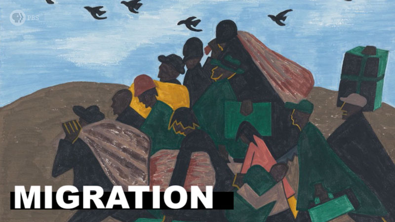 Still image from: The Art Assignment: Art About Migration