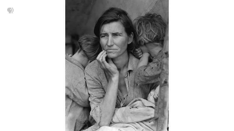 Still image from: The Art Assignment: Whose Migrant Mother Was This?