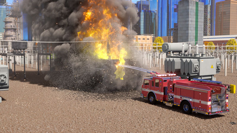 Still image from: Real City Heroes: William Watermore the Fire Truck (Part 2)