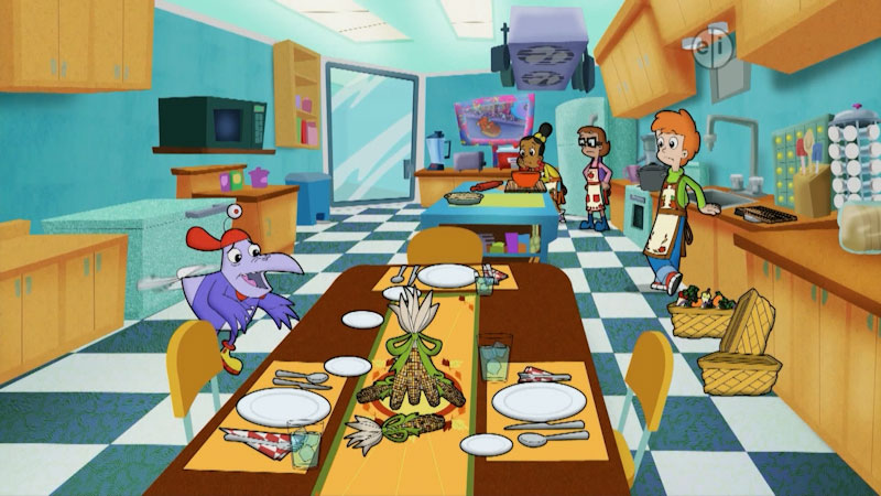 Still image from Cyberchase: Giving Thanks Day
