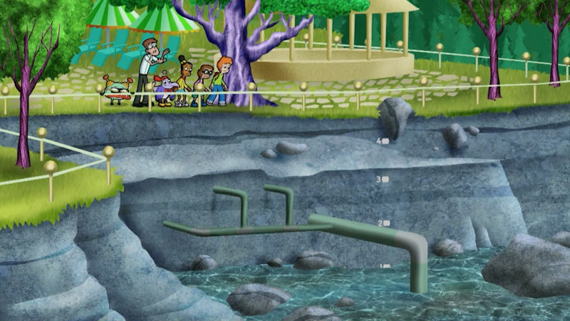 Still image from: Cyberchase: Water Woes