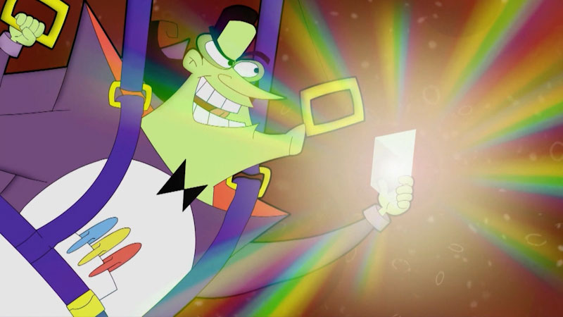 Still image from: Cyberchase: Pursuit of the Prism of Power