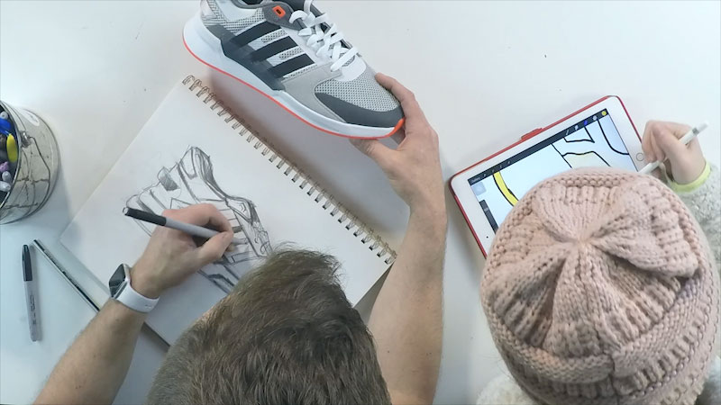 Still image from: Sketchbook Challenge! How to Draw Adidas Shoes
