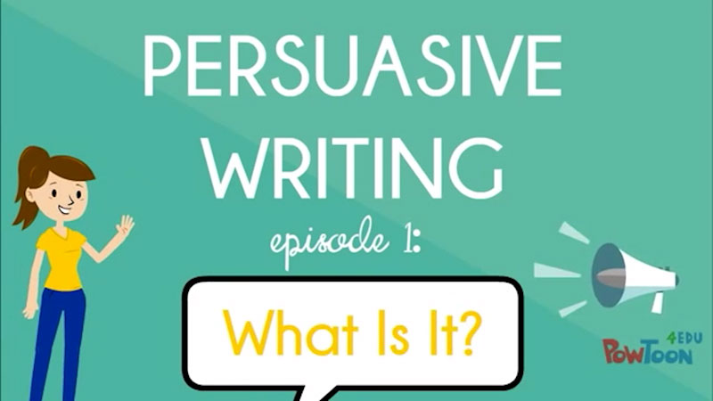 Still image from: Persuasive Writing: What Is It? (Episode 1)