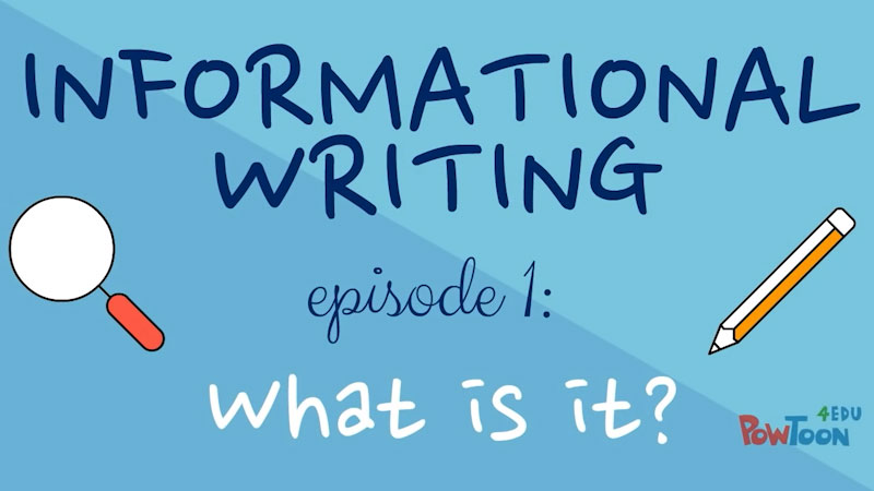 Still image from Informational Writing for Kids: What Is It? (Episode 1)