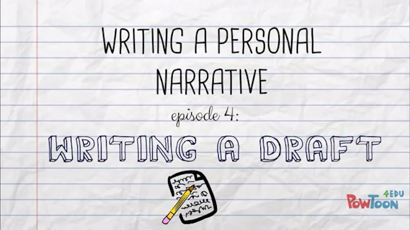 Still image from: Writing a Personal Narrative: Writing a Draft (Episode 4)