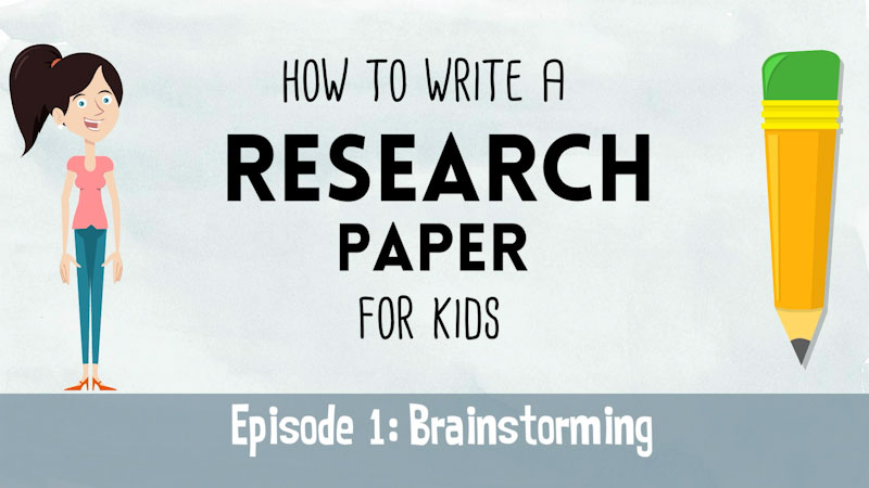 Still image from: How to Write a Research Paper for Kids: Brainstorming (Episode 1)