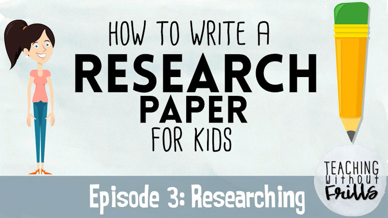 Still image from: How to Write a Research Paper for Kids: Researching (Episode 3)