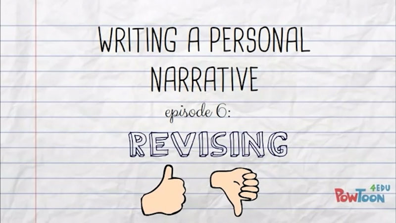 Still image from: Writing a Personal Narrative: Revising (Episode 6)