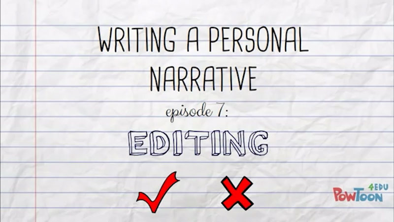 Still image from: Writing a Personal Narrative: Editing (Episode 7)