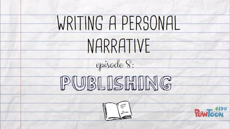 Still image from Writing a Personal Narrative: Publishing (Episode 8)