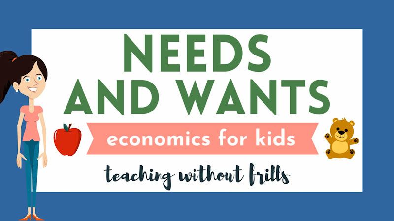 Still image from: Economics for Kids: Needs and Wants
