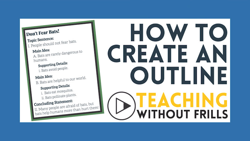 Still image from: How to Create an Outline