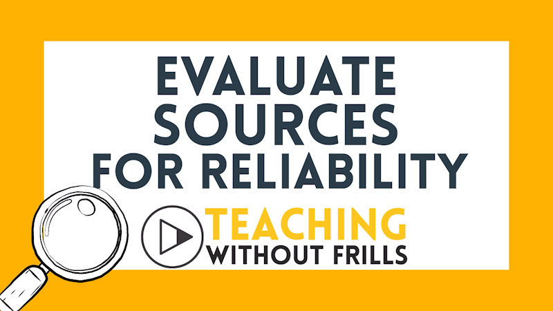 Still image from: Evaluate Sources for Reliability