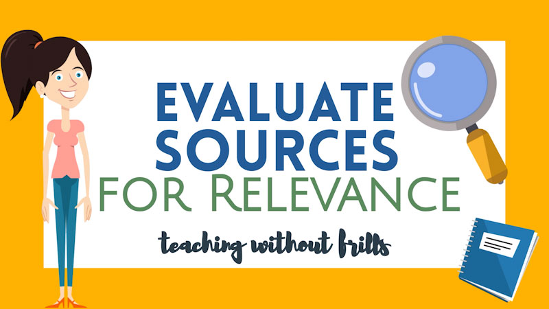 Still image from: Evaluate Sources for Relevance