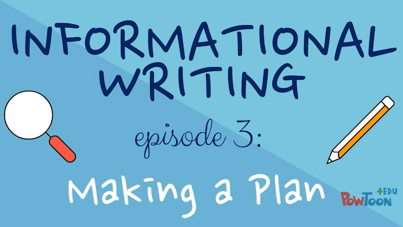 Still image from: Informational Writing for Kids: Making a Plan (Episode 3)