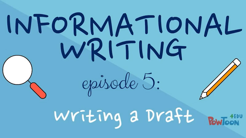 Still image from: Informational Writing for Kids: Writing a Draft (Episode 5)