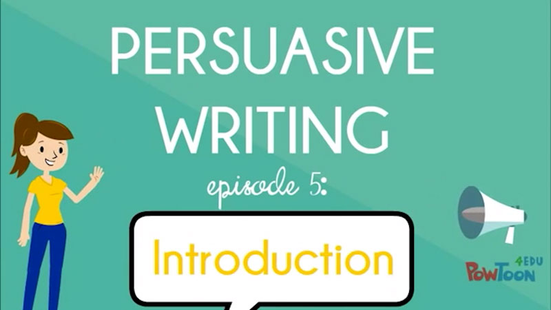 Still image from: Persuasive Writing: Introduction (Episode 5)