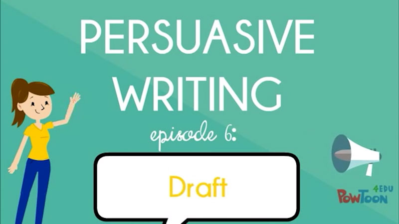 Still image from: Persuasive Writing: Draft (Episode 6)