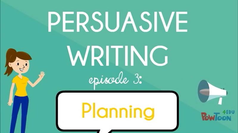 Still image from: Persuasive Writing: Planning (Episode 3)