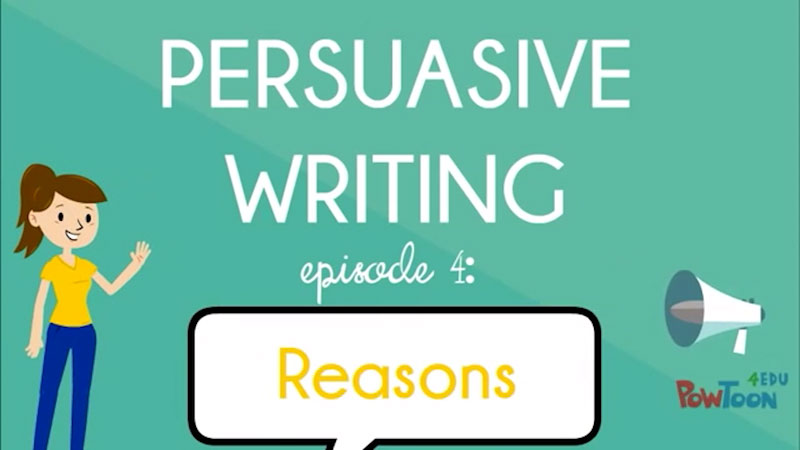 Still image from: Persuasive Writing: Reasons (Episode 4)