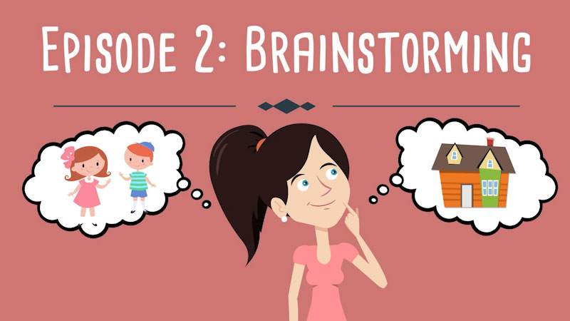 Still image from: Realistic Fiction Writing for Kids: Brainstorming (Episode 2)