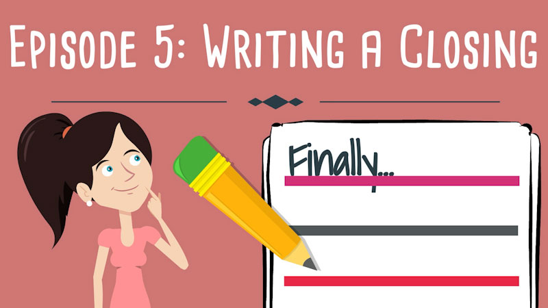 Still image from: Realistic Fiction Writing for Kids: Writing a Closing (Episode 5)