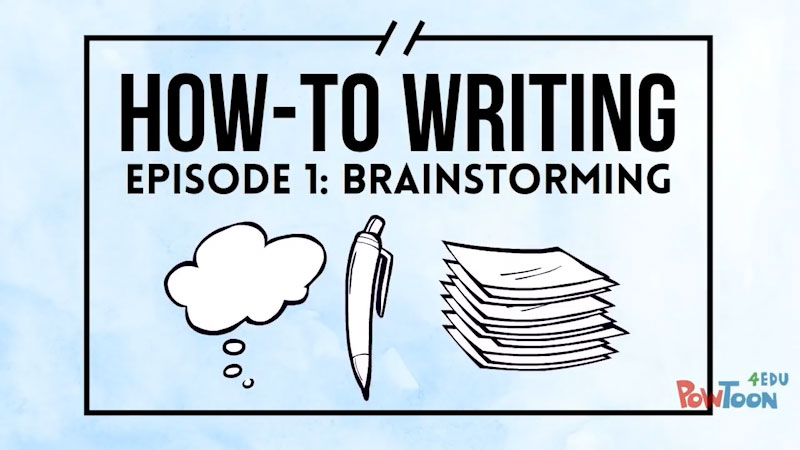 Still image from: How-To Writing: Brainstorming (Episode 1)
