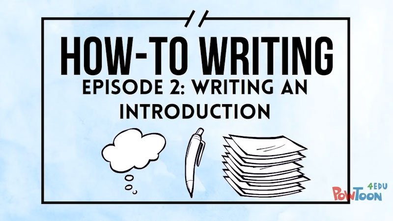 Still image from: How-To Writing: Writing an Introduction (Episode 2)