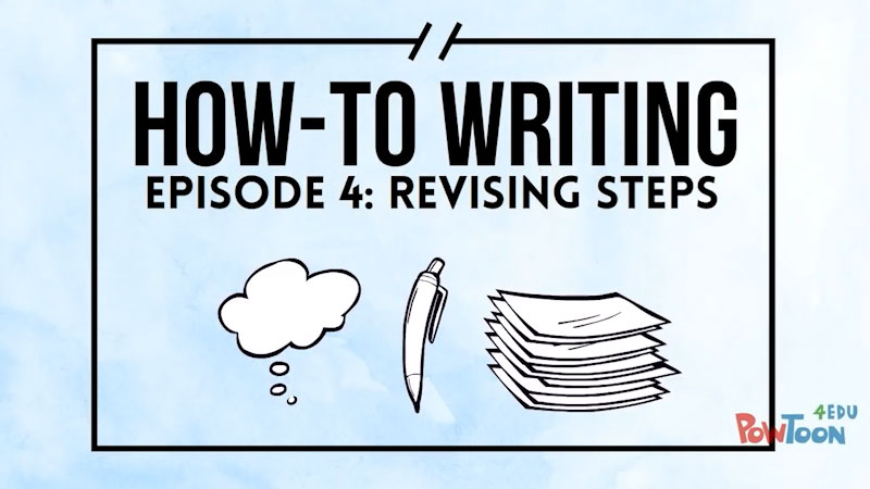 Still image from: How-To Writing: Revising Steps (Episode 4)