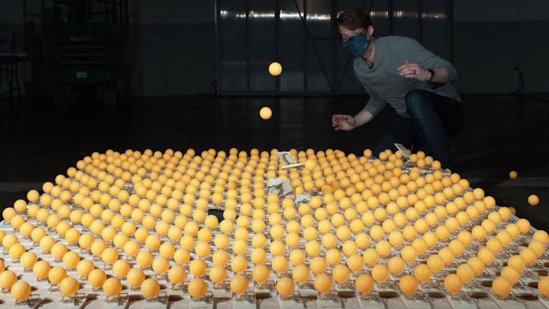 Still image from: It's Okay to Be Smart: Visualizing Herd Immunity (With 500 Mousetraps!)